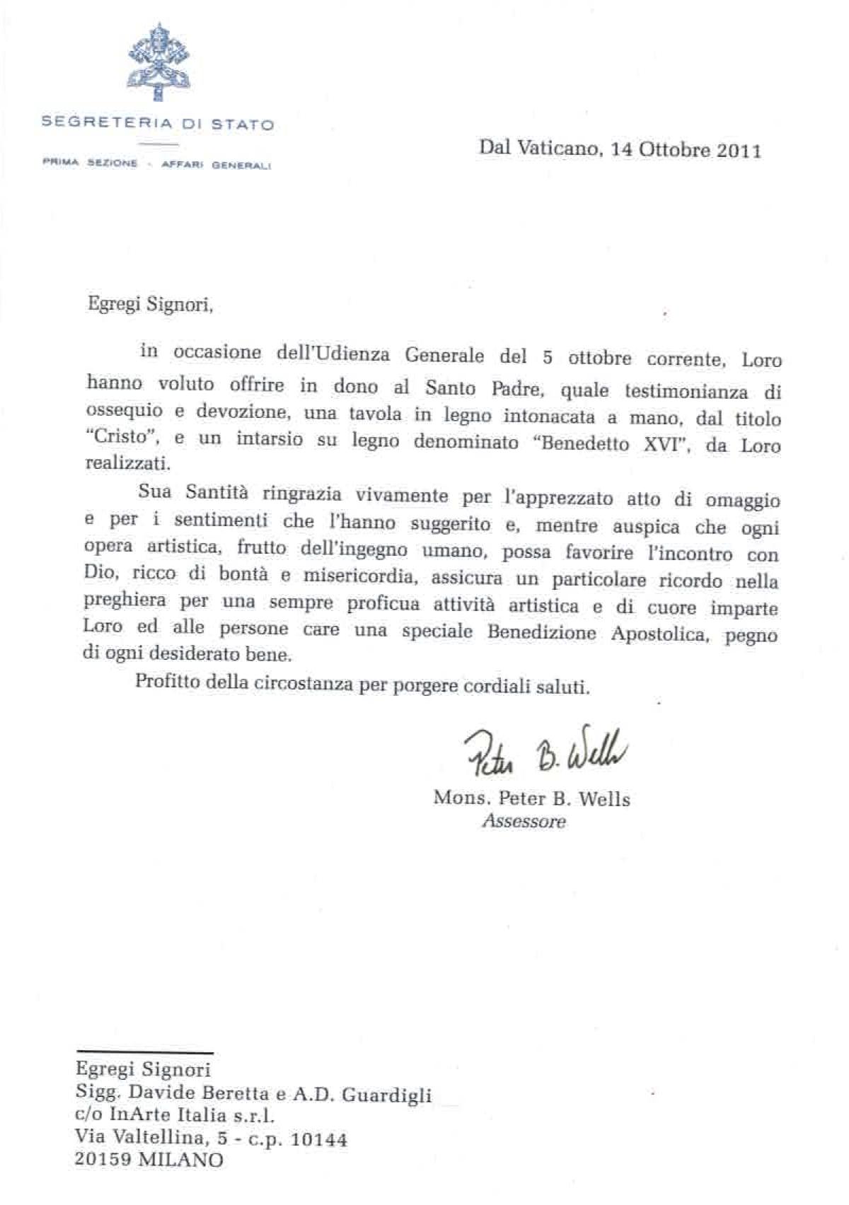 RINGRAZIAMENTI-VATICANO-ANNO-2011