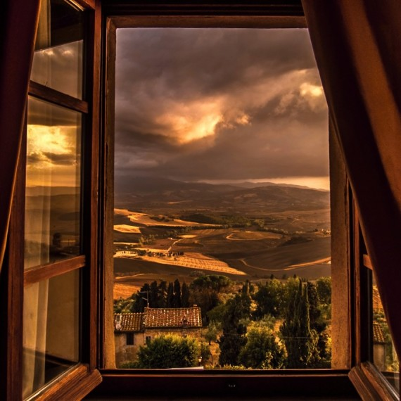 """From my room in Pienza"" di Enzo Crispino"